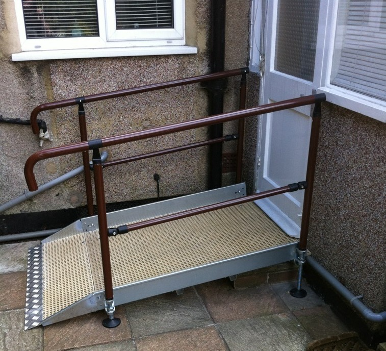 Small Wheelchair Ramp With Optional Handrails